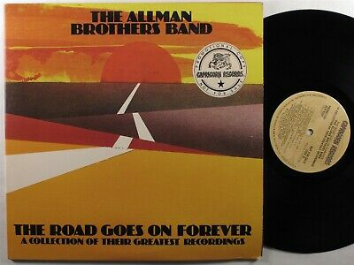 ALLMAN BROTHERS BAND The Road Goes On Forever CAPRICORN 2XLP VG+/VG++ promo ~