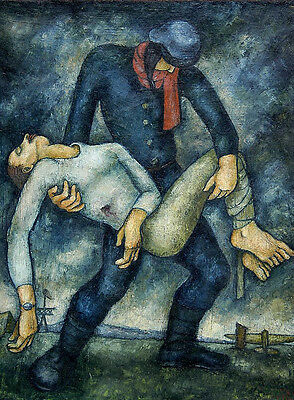 """perfect 24x36 oil painting handpainted on canvas """"Injured people""""@NO5774"""