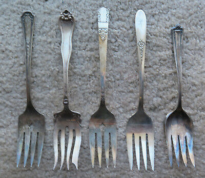 Silverplate Meat Fork lot 1910 Leyland 1881 Rogers Fantasy Glenmore Harmony MORE