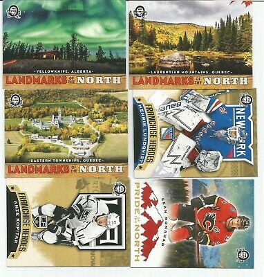 2018-19 OPC Coast to Coast Inserts Lot of 6 Landmarks, Lundqvist, Messier Mint
