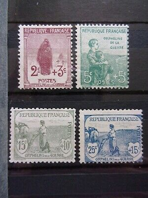 France N° 148 A 151 Orphelin Neufs Gomme Sans Charniere Ni Trace