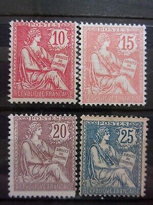 France N° 124 A 127 Mouchon Neufs Gomme Sans Charniere Ni Trace
