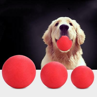 Indestructible Solid Rubber Ball Pet cat Dog Training Chews Play Fetch BiEE