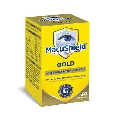 MacuShield Gold Food Supplement For Eye Health - 30 Day Pack - 90 Capsules