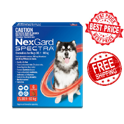 NexGard Spectra For Small Dogs Yellow 3.6-7.5kg 6 Pack - Brand New