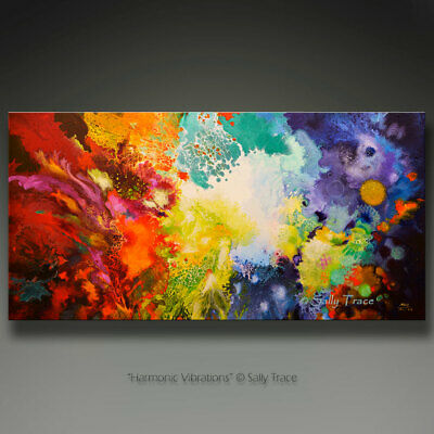 Giclee Print on Stretched Canvas made from my Original Fluid Art Pour Painting