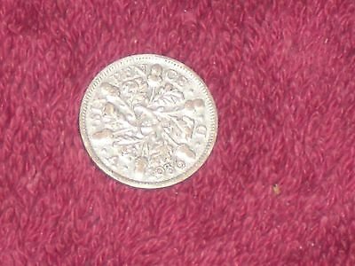 1936 Silver sixpence, George V, collectable grade.