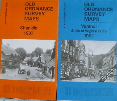 Old Ordnance Survey Maps 2 Maps Ventnor & Isle of Wight (S) 1901 & Shanklin 1907