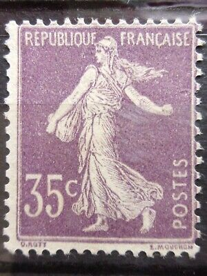 France N° 136 Semeuse Neuf Gomme Sans Charniere Ni Trace
