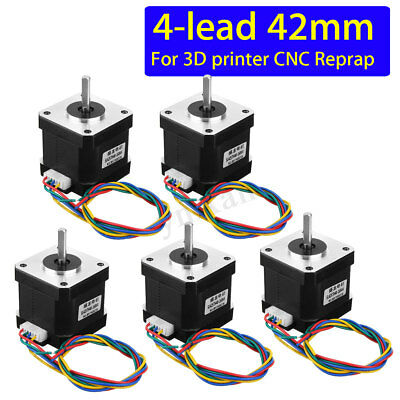 1/5Pcs 0.4Nm Nema 17 Stepper Motor 42mm 1.7A 4-wire For 3D Printer CNC Reprap