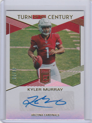 2019 Elite Turn of the Century Autograph #1 KYLER MURRAY AUTO CARDINALS /99