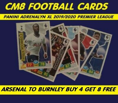 Premier League 2019/20 Panini Adrenalyn XL Base Cards Arsenal to Burnley