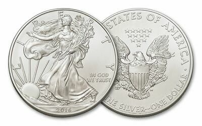 2016 Silver United States $1 American Eagle Coins Brilliant Uncirculated+