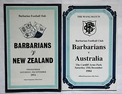 Barbarians Rugby Union Programmes