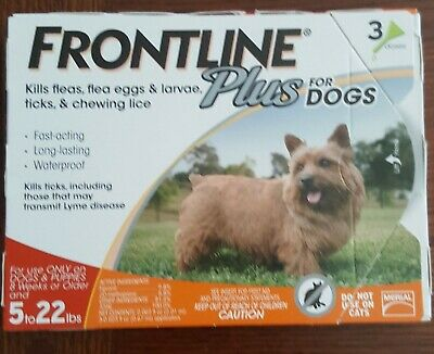 Frontline Plus Flea and Tick Treatment for Dogs 3 Doses, FREE SHIPPING!!