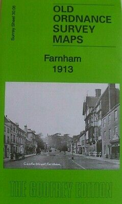 Old Ordnance Survey Detailed Maps Farnham  Surrey 1913 Godfrey Edition Offer