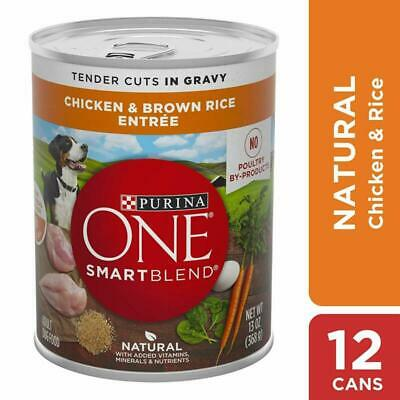 Purina One Natural, High Protein Gravy Wet Dog Food, Smartblend Tender Cuts Chic