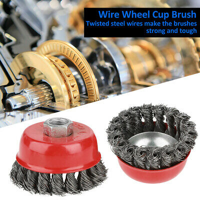 Twist Knot Wire Wheel Brush Steel Wire Cup Brush For Grinding Rough Surface