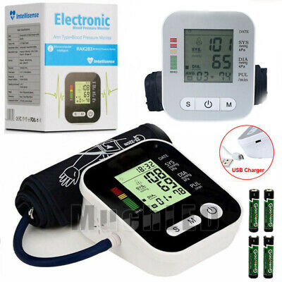 2x Fully Automatic Upper Arm Blood Pressure Monitor BP Cuff Gauge Machine Meter