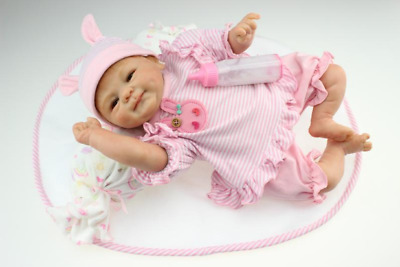 "17"" Lovely Real Looking Lifelike Reborn Baby Doll Soft Vinyl Silicon Doll"