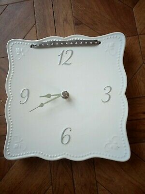 Next White Ceramic Wall Hanging Clock battery operated