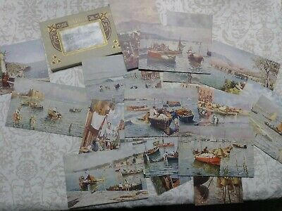 Antique Vintage Postcards Lot old Italy Italia lovely old style color printing
