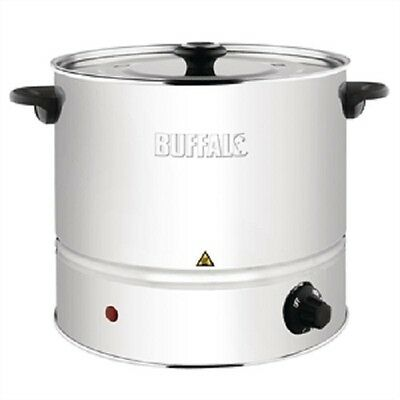 Buffalo Food Stainless Steel Steamer with Lid 6 litre ltr - CL205 Catering