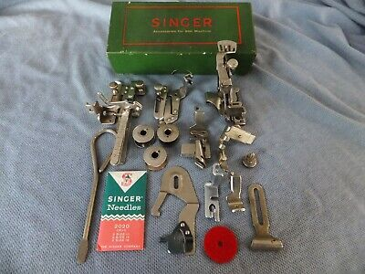 1950c Singer 99 201 15 Sewing Machine accessory box FULLY LOADED