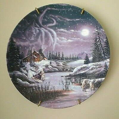 """D.L. Rust's Hidden World """"Two By the Night, Two By The Light"""" Collector Plate"""