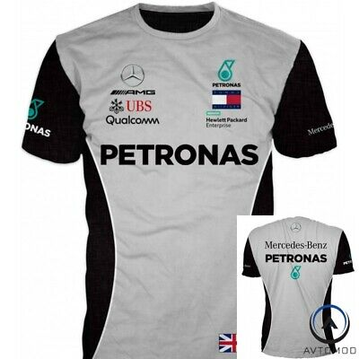Awesome 3D Men Women T-shirt Auto Fan Mercedes-Benz Petronas Motorsport F1 Team