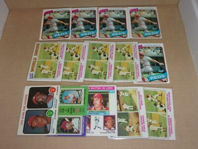 1973-1980 Topps lot of 14 JOHNNY BENCH cards! REDS! HOF! MUST SEE! BV$$$