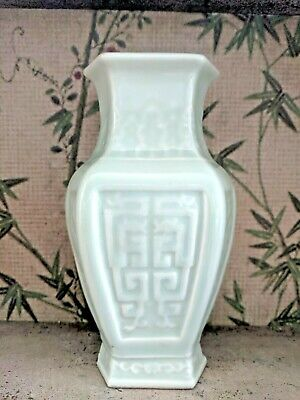 Antique old Celadon Chinese vase large porcelain 19th 20th c Pot vintage Rare
