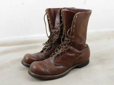Great Ww 2 Vintage Us Paratrooper Jump Boots With Leather Lacing, Size 8 1/2