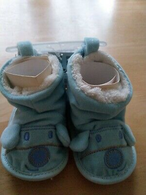 Baby Boy Booties 6-12 Months