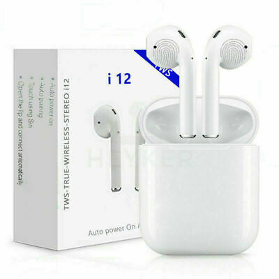 i12-TWS  Bluetooth V5.0+EDRB Earphones Wireless Smart Touch Control UK