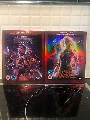 Avengers: Endgame	(3D + 2D ) [Blu-ray] And Captain Marvel (3D+2D) [Blu/ray] New
