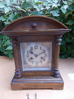 Antique German Badische Uhrenfabrik Black Forest Mantle Clock Spares Repair