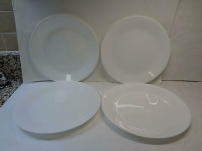 "Lot of 4 Corelle Corning WINTER FROST White 10.25"" Dinner Plates"