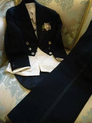 A Fabulous Antique Childs's Full Evening Suit With Tails C.1910 (B)