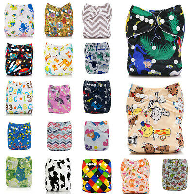 Diapers Reusable Nappy+ Size One Cloth 1 Pocket Baby Bamboo ALVA Insert 4-layers