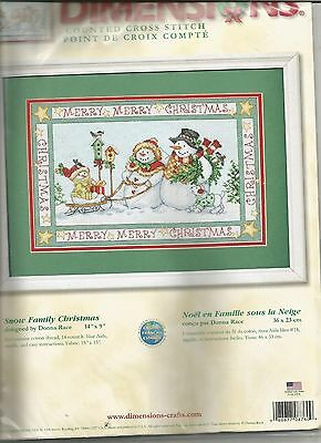 Dimensions Snow Family Christmas 8760 OOP