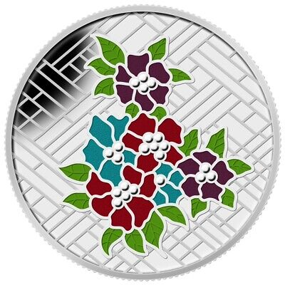 Canada 2014 $20 Pure Silver Coin: Stained Glass Craigdarroch Castle Tax Exempt