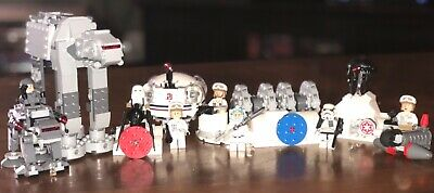 Lego Star Wars Lot- Star Wars Hoth Figures, 7 Minifigures and Vehicles