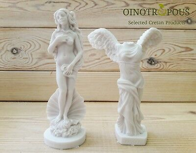 Set 2 Greek Goddesses - Nike of Samothrace ,5.52in / Aphrodite ,6.3in