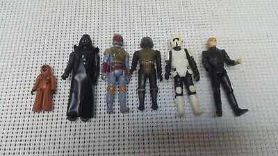 Lot of 6 Vintage Loose Original 1977 Star Wars Action Figures KENNER Darth Vader