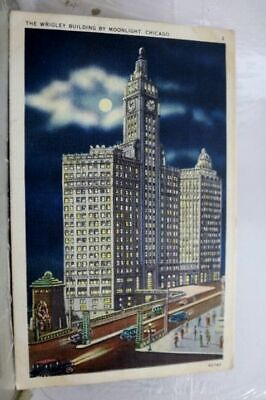 Illinois IL Wrigley Building Chicago Postcard Old Vintage Card View Standard PC