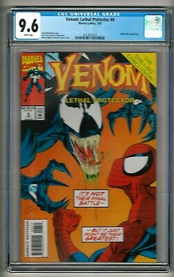 Venom: Lethal Protector #6 (1993) CGC 9.6  White Pages  Michelinie - Bagley