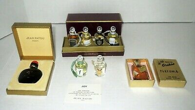 Large Lot Antique MINIATURE PERFUME BOTTLES - JOY WHITE ORCHID & PENHALIGON'S