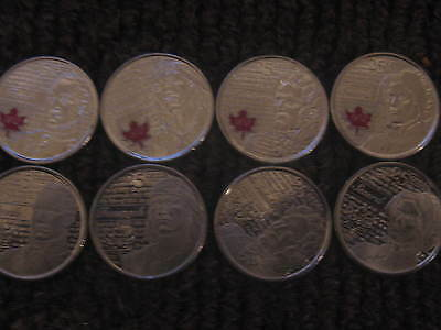 Canada War Of 1812 Rare Complete Set Commemorative 25 Cent Coins.