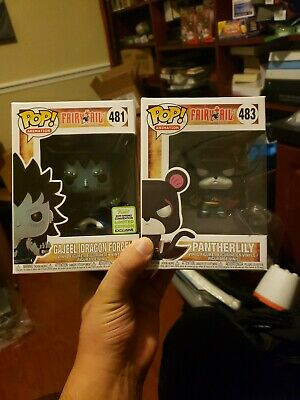 Funko Pop! Fairytail Gajeel Dragon Force and Panther Lilly